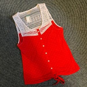 Summer tie up tank top small